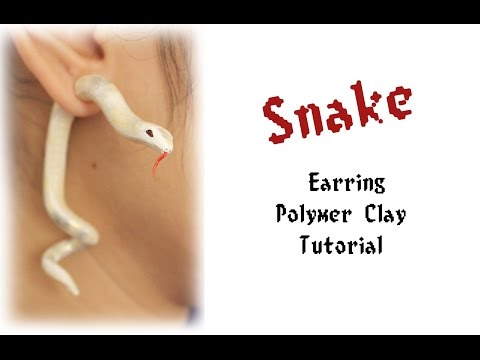 DIY: Polymer Clay Fake Gauge Snake Earrings Tutorial