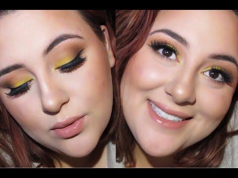 Canary Yellow Makeup Look | ft. Grav3yardgirl Swamp Queen Palette!!!