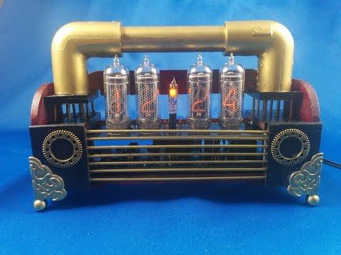 Making nixie steampunk clock