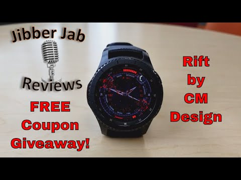 Samsung Gear S3/Gear Sport Watch Face by CM Design - FREE Coupon Giveaway! - Jibber Jab Reviews!