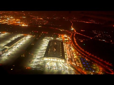 Take Off from London Heathrow Airport LHR incl  Taxi at Night