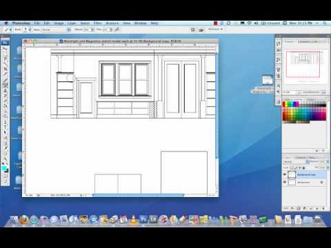 Open a PDF for Paint Elevation in Photoshop