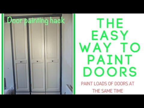 Door Painting the easy way