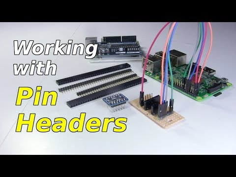 Pin Headers - soldering, cutting, male, female, etc.