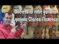Guitarra Española, Clásica y Flamenca: DIFERENCIAS/SIMILITUDES