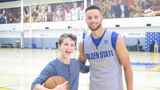 PLAYING BASKETBALL WITH THE GOLDEN STATE WARRIORS!!!!