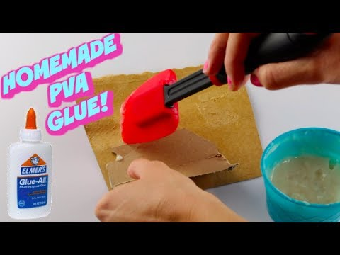 MAKE NON TOXIC PVA GLUE AT HOME IN 5 MINUTES!