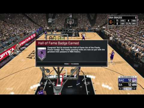 How to get flashy passer Hall of fame NBA2K17