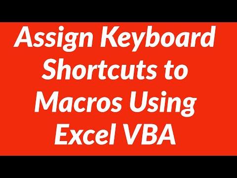 Assign Keyboard Shortcuts to Macros Using Excel VBA