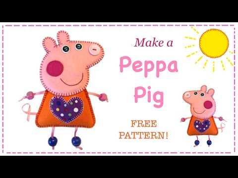 Felt Peppa Pig tutorial with free pattern by Lisa Pay