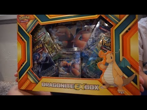 Unboxing the Dragonite EX Pokemon TCG collectors box!