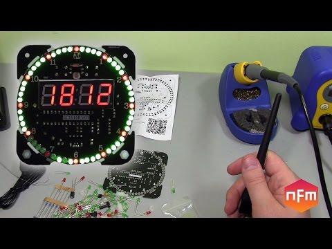 EC1515B 4-digit Rotating LED Electronic Clock Kit Build