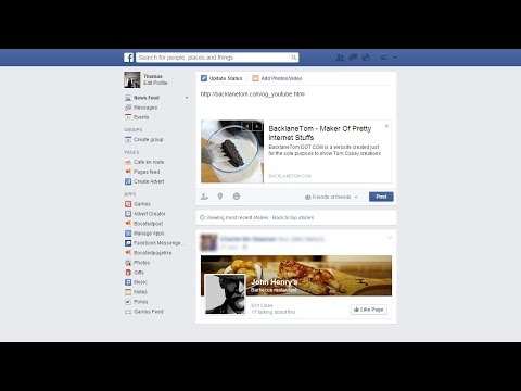 Facebook Website Link Thumbnail Tutorial