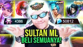 SULTAN ML BACK! LANGSUNG BELI SEMUA SKIN LEGENDS TOTAL? 50.000 DIAMOND! - Mobile Legends Indonesia