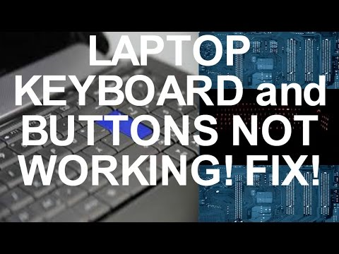 Laptop Keyboard Buttons Not Working FIX!!!