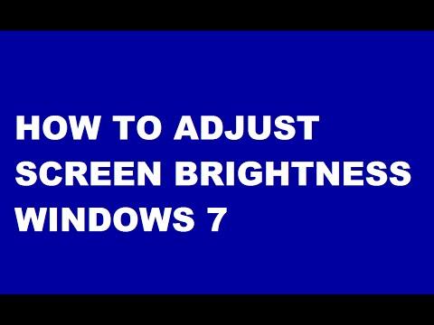 How To Adjust Screen Brightness Windows 7  In Telugu