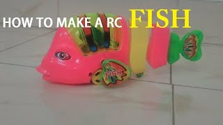 How to make a rc fish||remote control car||DIY