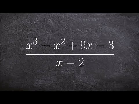 Using synthetic division to divide two polynomials with a remainder
