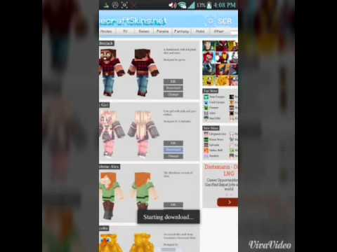 How to change your skin on minecraft pe /android/