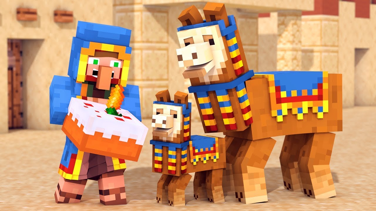 Llama & Wandering Trader Life - Minecraft Animation