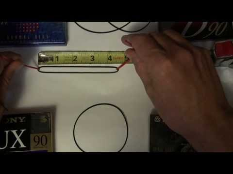 How to Measure Walkman Boombox drive Belts almost all sizes Square Cut & Flat