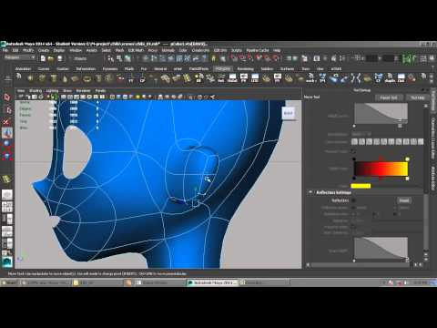3D chibi anime head modeling tutorial - Maya 2014