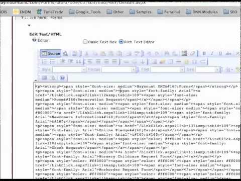 Adjuting HTML Code
