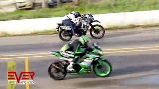 RX King vs Ninja 250 vs KX125 vs Z250 vs KLR650 vs ninja 300 | Final 15 seg 2 válida motos 2017
