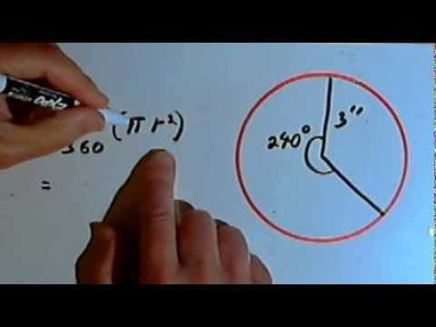 Area of a Sector of a Circle 128-4.5