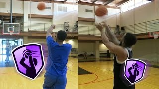 Limitless Range Basketball Challenge! Who Can Shoot Farthest 3 Point Range?! Muscle vs. Accuracy!
