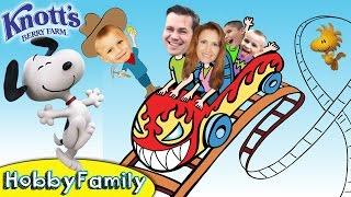 Wild Rides at SNOOPY Knott's Berry Farm! Roller Coaster Theme Park Vacation HobbyFamilyTV