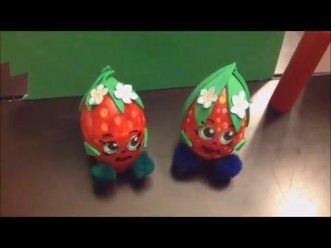 Shopkins Easter Egg Decoration!!! Strawberry Kiss :) Easy craft for kids