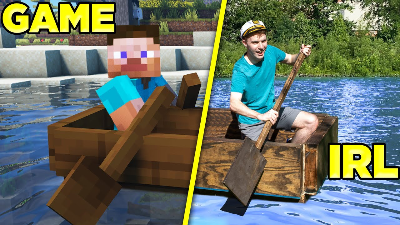 Will It Float? Testing Minecraft Boat in Real Life!