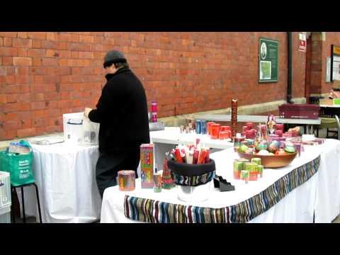 Tiana sets up at Tynemouth market.MOV
