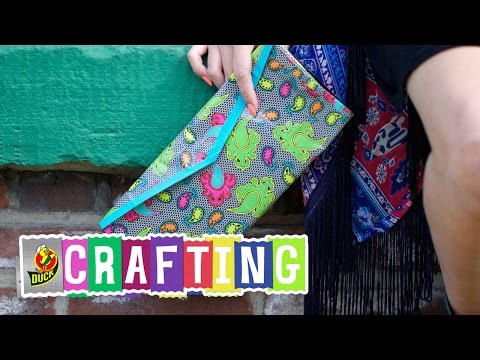 How to Craft a Duct Tape Envelope Clutch