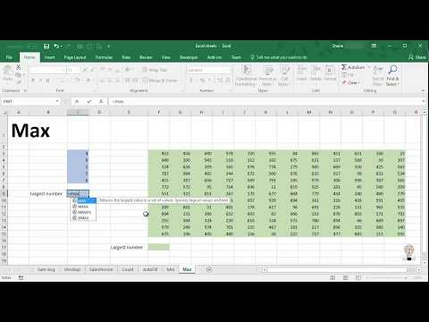 Max Function - Excel and other spreadsheets