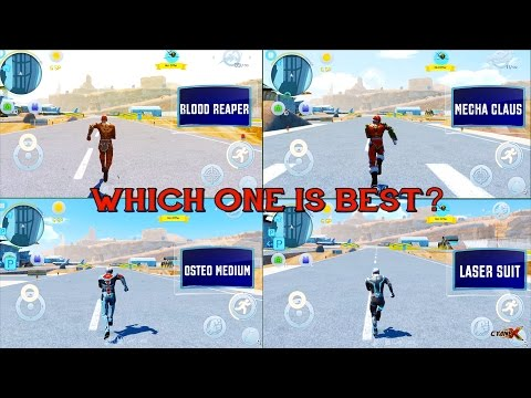 Gangstar Vegas - ULTIMATE EXOSKELETON COMPARISON GUIDE