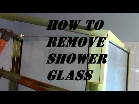 Removing Shower Glass Door and Panels
