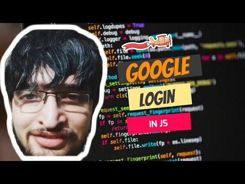 Login With Google Account Using Javascript