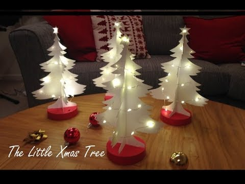 The Little Xmas Tree - 3D Christmas Decorations with Lights DIY - How to Make