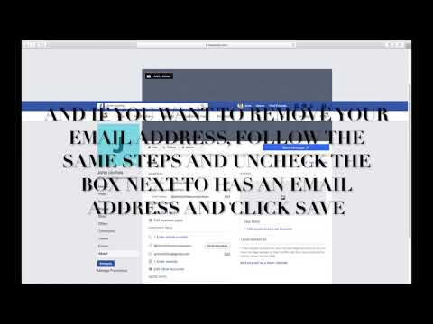 HOW TO ADD OR REMOVE EMAIL ADDDRESS OF BUSINESS OR COMMUNITY FACEBOOK PAGE