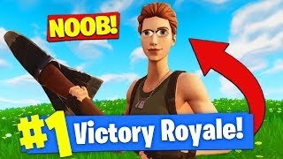 PRETENDING To Be A *NOOB* To WIN In Fortnite Battle Royale!