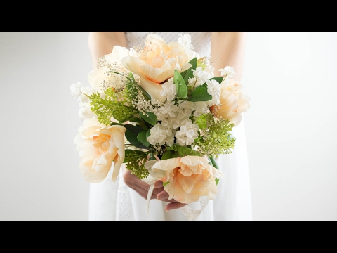 DIY Easy Wedding Bouquet | Simple and Beautiful