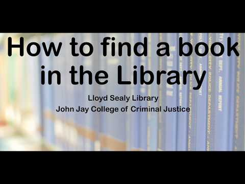 How to find a book - John Jay Library
