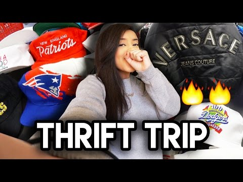 REAL VERSACE AT THE THRIFT?! + THE MOST VINTAGE HATS I'VE EVER FOUND | Trip To The Thrift