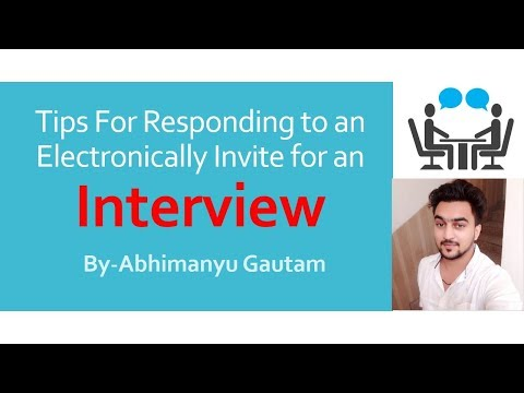 Tips For Responding to an Emails Invitation for an Interview
