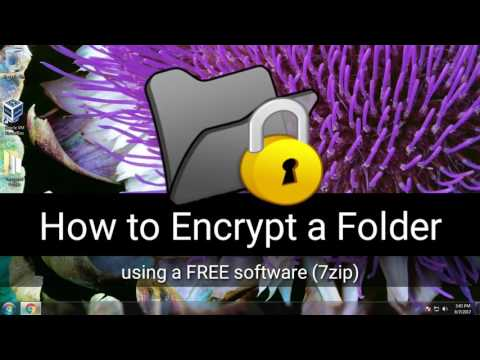 How To Put a Password on a Folder in Windows Using 7zip