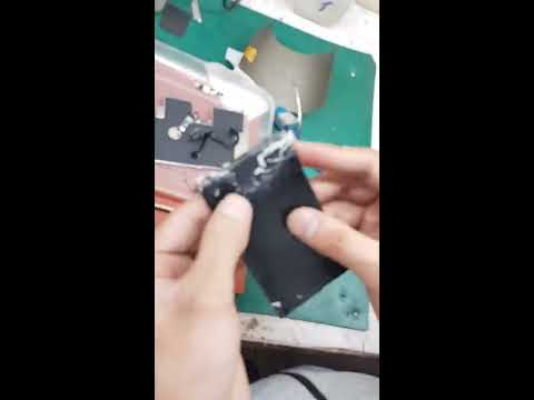 Iphone 8 broken glass replacement /glass change with oca ymj machine..