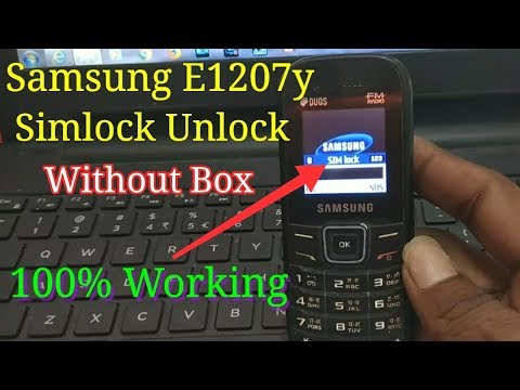Samsung e1207y Flash/simlock solution, unlock done without flashing box || Verified Tricks