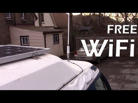 Camper Van Wifi extender for RV Living in a Motor Home Free Internet on the Road!